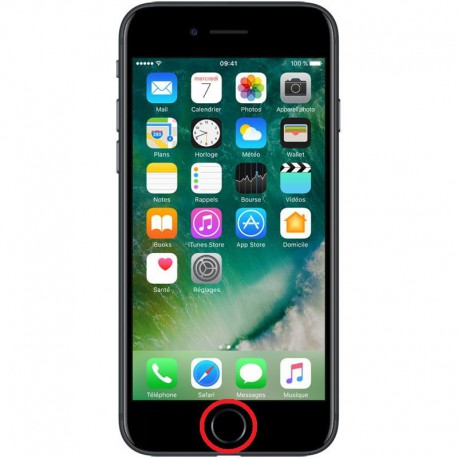 [Réparation] Nappe de Bouton HOME Noire ORIGINALE - iPhone 7