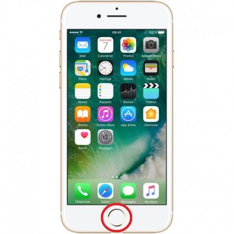 [Réparation] Nappe de Bouton HOME Blanc / Or ORIGINALE - iPhone 7