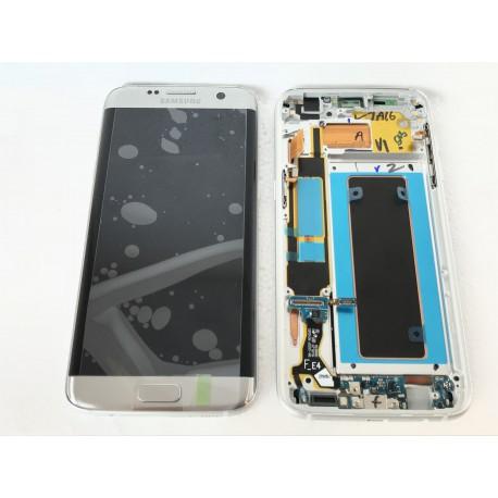 Bloc écran ORIGINAL Argent pour SAMSUNG Galaxy S7 Edge - G935F - Présentation avant / arrière