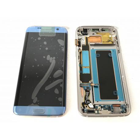 Bloc écran ORIGINAL Bleu Corail pour SAMSUNG Galaxy S7 Edge - G935F - Présentation avant / arrière