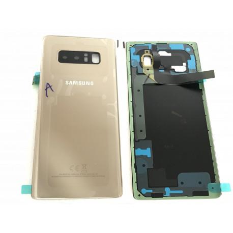 Vitre Arrière ORIGINALE OR Topaze - SAMSUNG Galaxy Note8 - N950F - Présentation avant / arrière