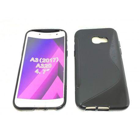 Coque Silicone S-Line Noire - SAMSUNG Galaxy A3 2017 - SM-A320F / SM-A320FL