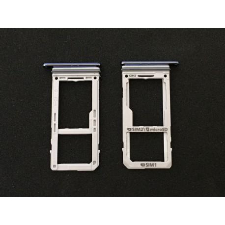 Tiroir de carte sim Bleu ORIGINAL - SAMSUNG Galaxy Note8 / SM-N950F / SM-N950F/DS