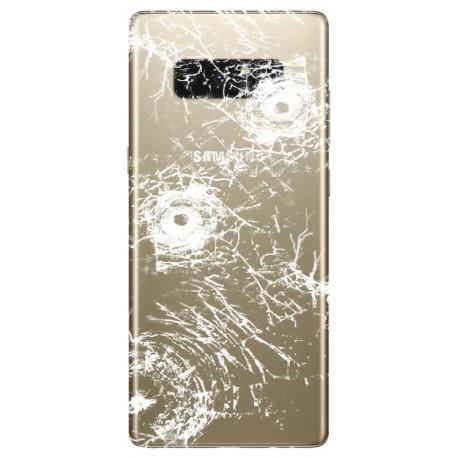 [Réparation] Vitre Arrière ORIGINALE OR Topaze - SAMSUNG Galaxy Note8 / SM-N950F/DS Double SIM