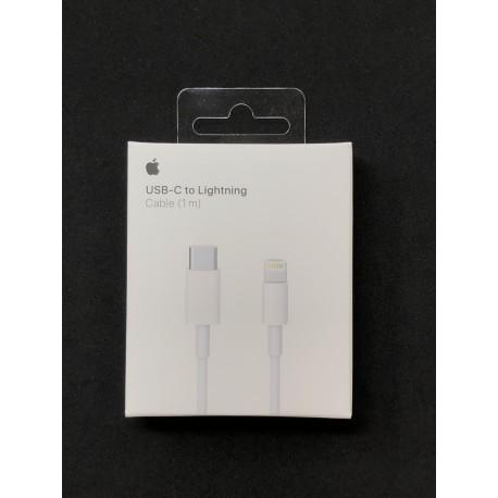 Câble ORIGINAL USB-C vers Lightning 1m pour APPLE iPad, iPhone et iPod - Présentation avant