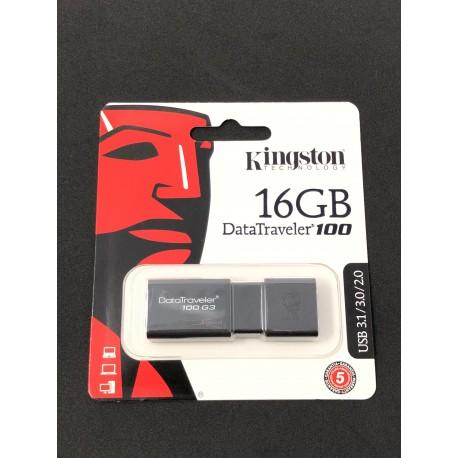 Clé USB 3.1 Kingston DataTraveler 100 de 16GB - Présentation emballage avant