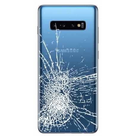[Réparation] Vitre arrière ORIGINALE Bleue Prisme pour SAMSUNG Galaxy S10+ - G975F