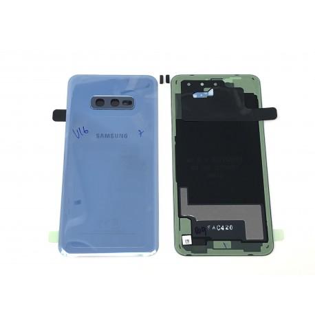 Vitre arrière ORIGINALE Bleu Prisme pour SAMSUNG Galaxy S10e - G970F - Présentation avant / arrière