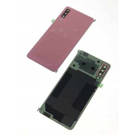 Vitre arrière ORIGINALE Rose pour SAMSUNG Galaxy A7 2018 DUOS - A750F - Présentation avant / arrière