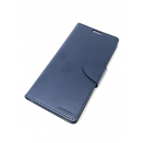 Housse de Protection Bravo Diary Bleue Navy pour SAMSUNG Galaxy A50 - A505F - Présentation avant