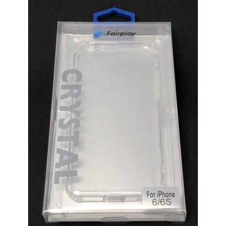 Coque Silicone Transparente Renforcée pour iPhone 6 ou iPhone 6S - Présentation packaging avant