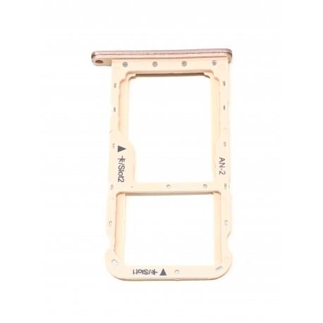 Tiroir de carte double SIM et carte SD rose ORIGINAL pour HUAWEI P20 Lite - Présentation avant