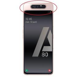 Cache arrière du slide ORIGINALE Or Rose pour SAMSUNG Galaxy A80 - A805F - Présentation de la position de la pièce