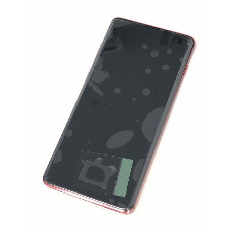 Bloc écran complet ORIGINAL Rouge Cardinal pour SAMSUNG Galaxy S10+ - G975F - Présentation avant
