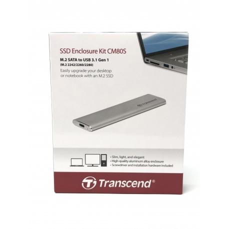 Boîtier externe Transcend SSD enclosure kit CM80S / USB 3.1 - Présentation avant