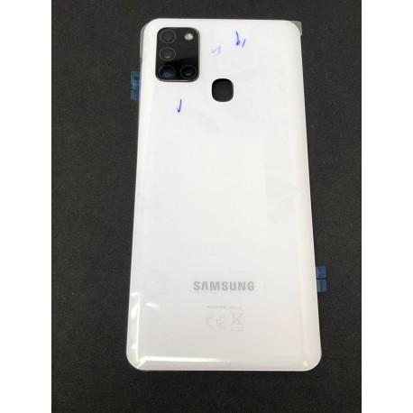 Vitre arrière ORIGINALE Blanc Prismatique pour SAMSUNG Galaxy A21s - A217F - Présentation avant