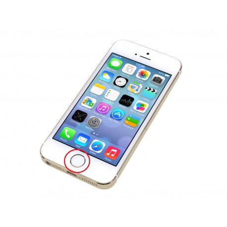 [Réparation] Nappe de Bouton HOME Blanc / Argent ORIGINALE - iPhone 5S