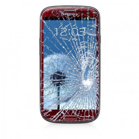 [Réparation] Bloc Avant ORIGINAL Rouge - SAMSUNG Galaxy S3 Mini - i8190