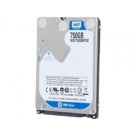 Disque Dur 2.5p - Western Digital BLUE 750GB - Sata 3